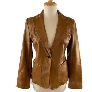 Banana Republic Size 8  Leather Blazer